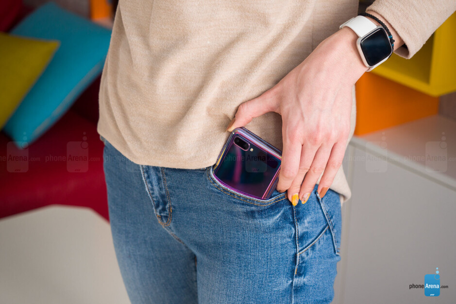 The Galaxy Z Flip is more likely to fit in a lady's pocket - Samsung Galaxy Z Flip Review