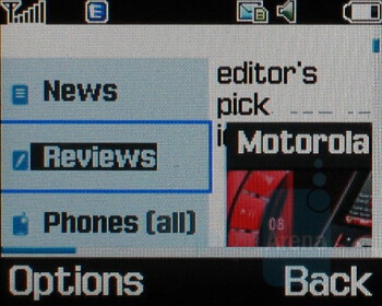 Internet Browser - Samsung SGH-F500 Review