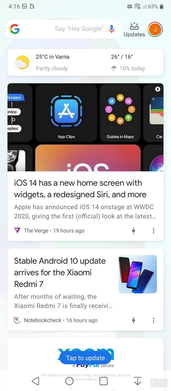 The LG Velvet comes with Android 10 - LG Velvet review