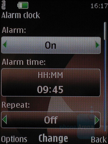 Alarm Clock - Nokia 6500 slide Review