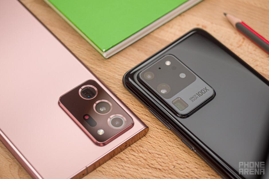 Samsung Galaxy Note 20 Ultra 5G vs S20 Ultra comparison