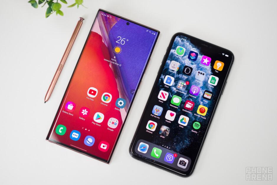 Samsung Galaxy Note 20 Ultra vs Apple iPhone 11 Pro Max