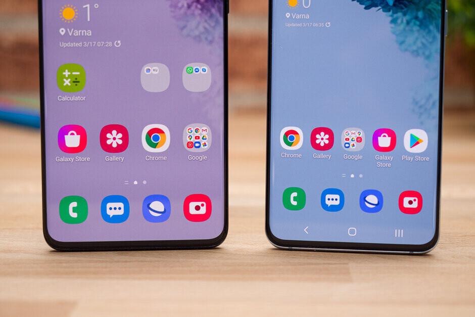 Samsung Galaxy S20 (right) - Apple iPhone 12 Pro vs Samsung Galaxy S20