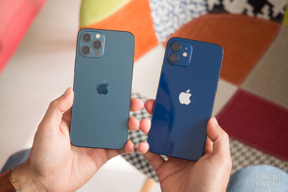 The iPhone 12 Blue is slightly darker blue color than the iPhone 12 Pro - iPhone 12 vs iPhone 12 Pro