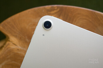 The iPad Air's single main camera, next to which is a microphone - Apple iPad Air (2020) Review