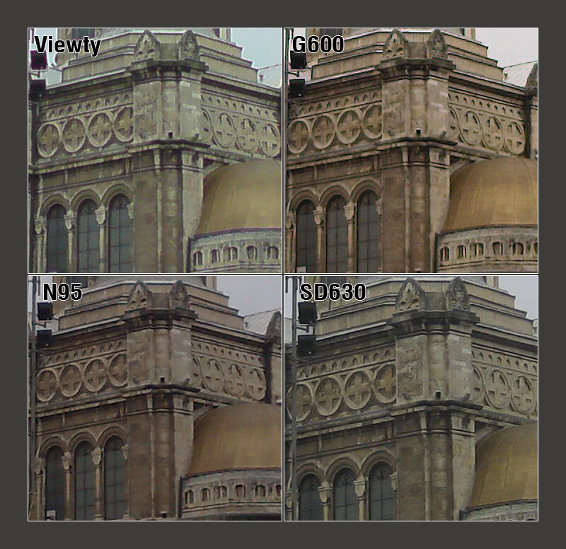 100% Crop - LG Viewty, Samsung G600 and Nokia N95 Camera Comparison
