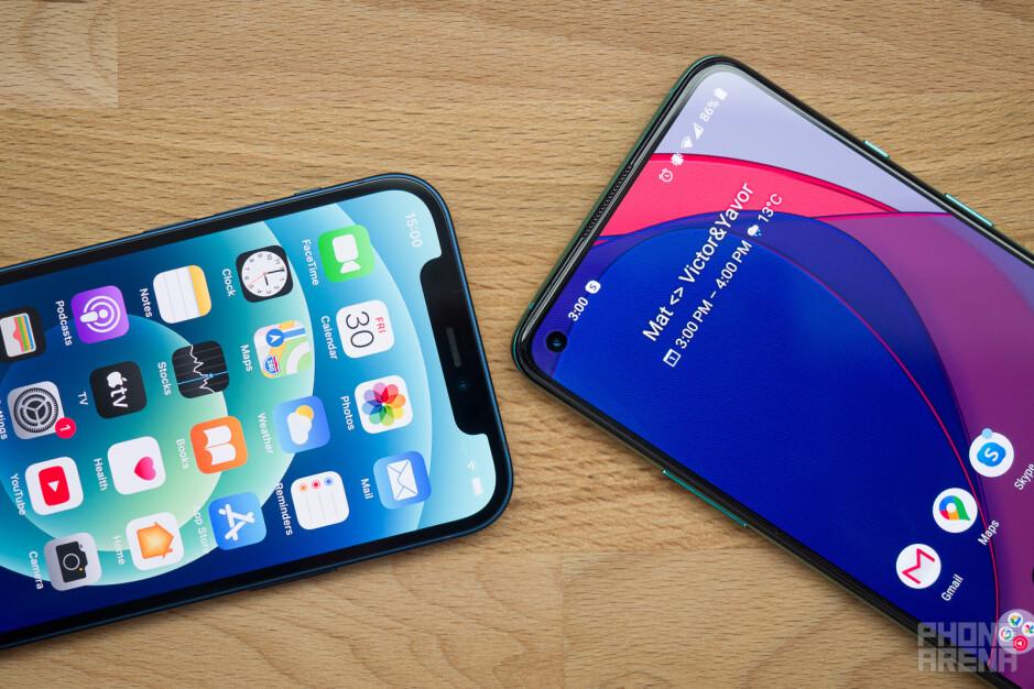OnePlus 8T vs iPhone 12