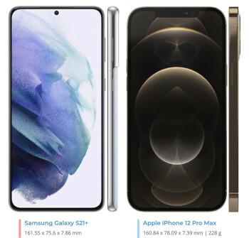Samsung Galaxy S21 Plus vs Apple iPhone 12 Pro Max