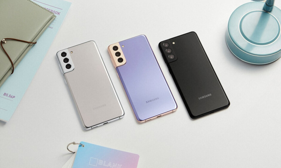 Samsung Galaxy S21+ in the three available colors - Samsung Galaxy S21 Plus vs OnePlus 9 Pro