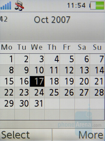 Calendar - Sony Ericsson K770 Review