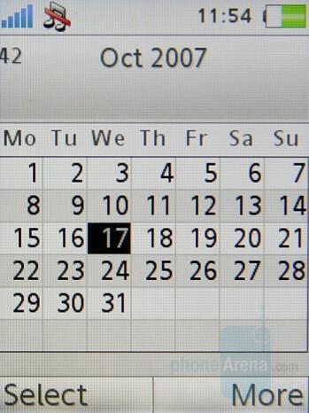Calendar - Sony Ericsson K770 Review