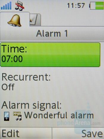 Alarm - Sony Ericsson K770 Review