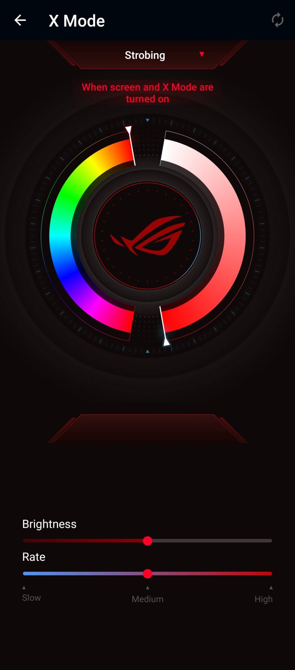 The ROG logo on the back of the phone can light up in a color of your choosing - Asus ROG Phone 5 review