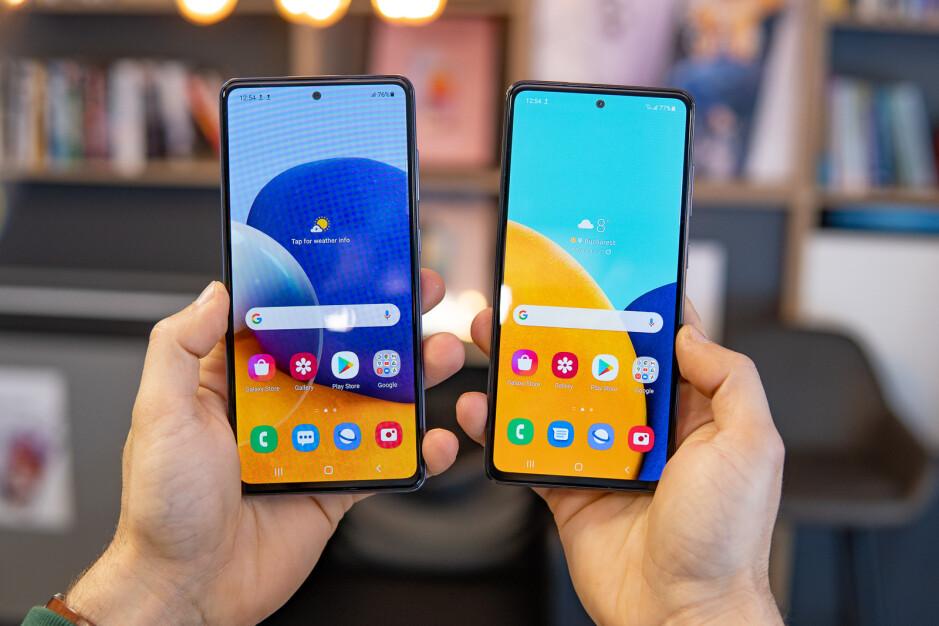 Samsung Galaxy A72 vs Galaxy A52 5G