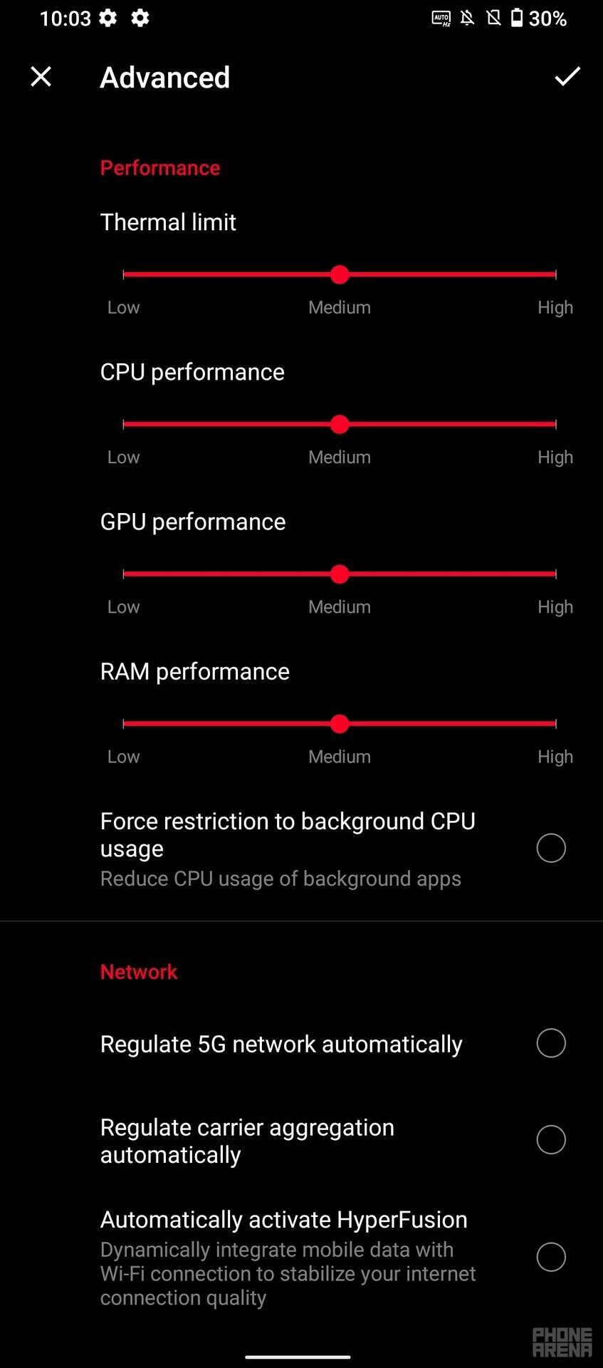 Asus X Mode settings - Asus ROG Phone 5 Ultimate review