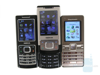 From Left to Right and Bottom to Top - Nokia 6500 classic, Nokia 6500 slide, Sony Ericsson K770 - Nokia 6500 classic Review