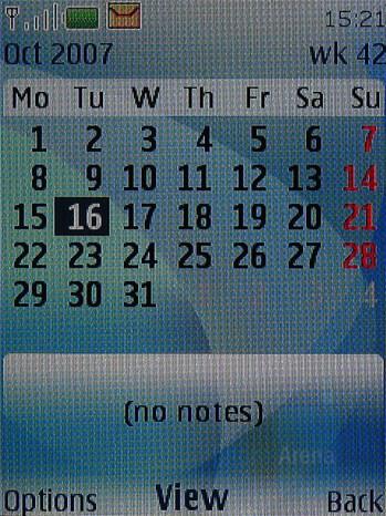 Calendar - Nokia 6500 classic Review