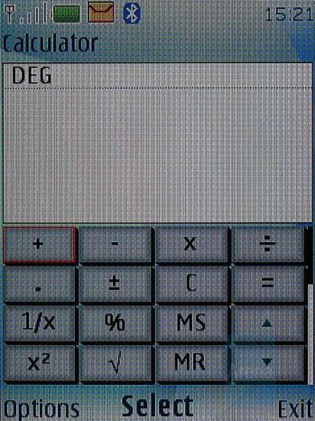 Calculator - Nokia 6500 classic Review