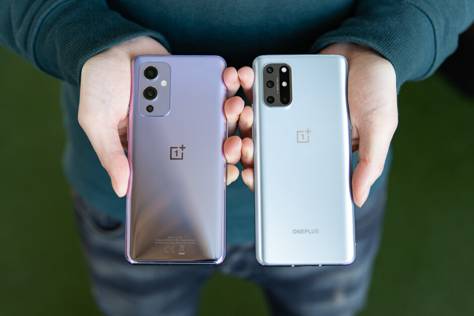 The OnePlus 9 (left) and OnePlus 8T (right) - OnePlus 9 vs OnePlus 8T