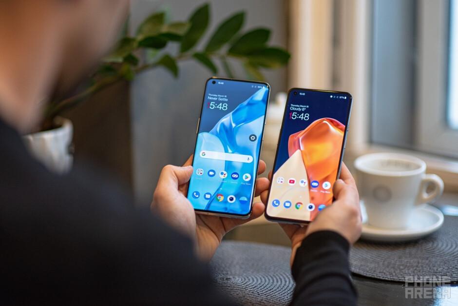 OnePlus 9 Pro - left; OnePlus 9 - right - OnePlus 9 vs OnePlus 9 Pro