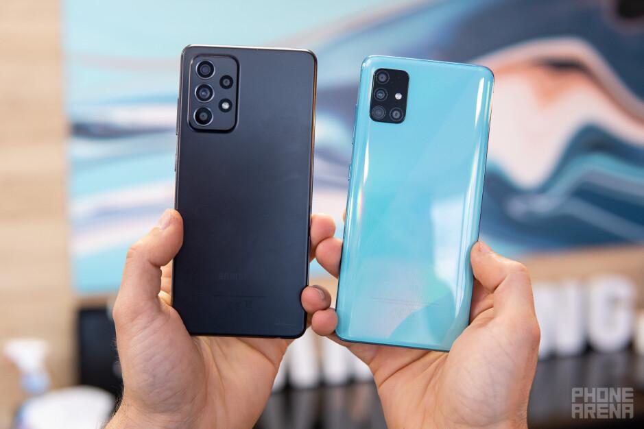 Galaxy A52 (sinistra) e Galaxy A51 (destra) - Confronto tra Samsung Galaxy A52 5G e Galaxy A51 5G