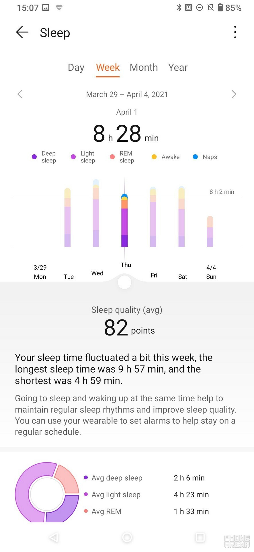The Huawei Health app - Huawei Watch Fit Elegant Review - Fitness band on steroids