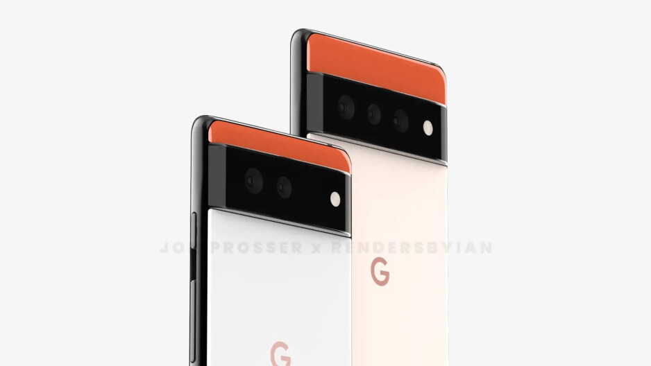 Pixel 6 and Pixel 6 XL (or Pro) renders - Google Pixel 6 vs Samsung Galaxy S21: preliminary comparison