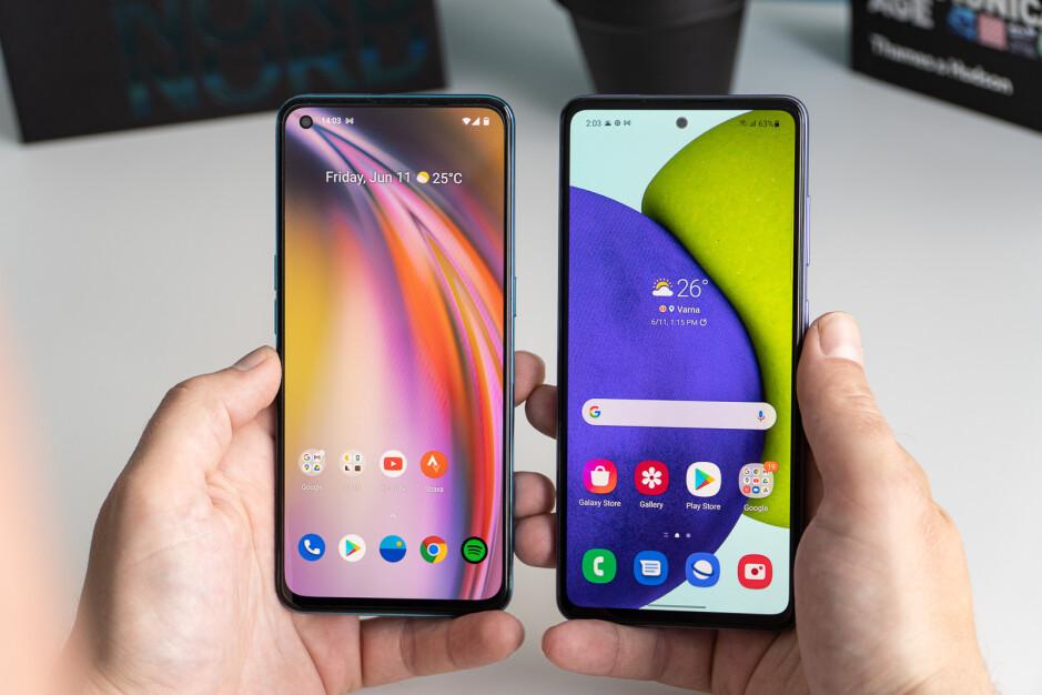 OnePlus Nord CE 5G vs Samsung Galaxy A52