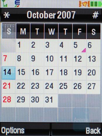 Calendar - Motorola RAZR2 V9 Review