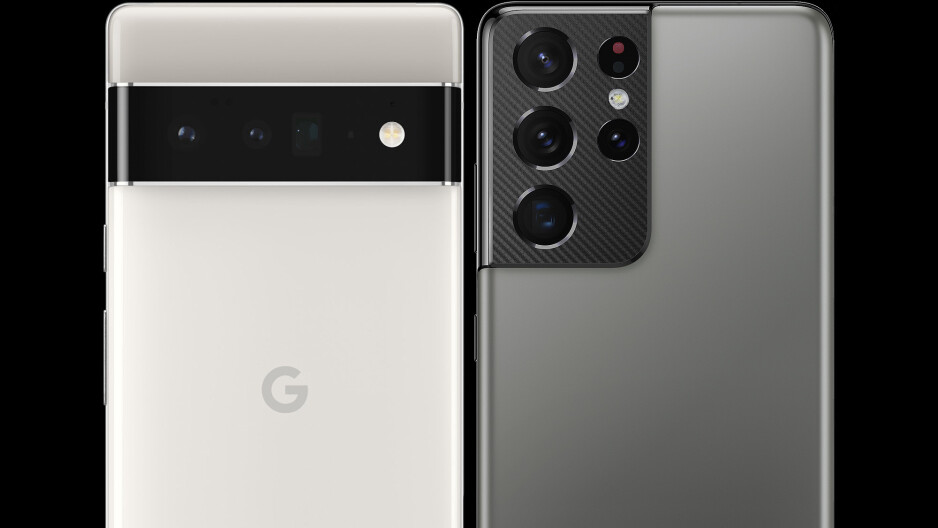 The Pixel 6 Pro finally does away with the camera island in favor of a strip that won't wobble - Google Pixel 6 Pro vs Samsung Galaxy S21 Ultra, the nutshell