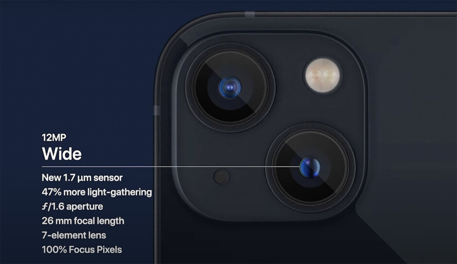 iPhone 13 comes with a new sensor for the wide camera - iPhone 13 vs iPhone 12