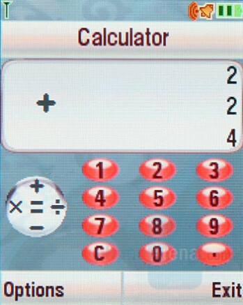 Calculator - Motorola SLVR L9 Preview