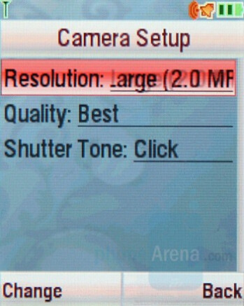 Camera Interface - Motorola SLVR L9 Preview