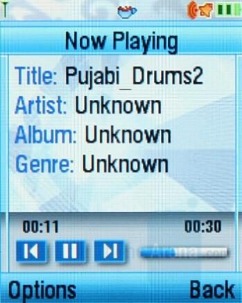 Music Player - Motorola SLVR L9 Preview