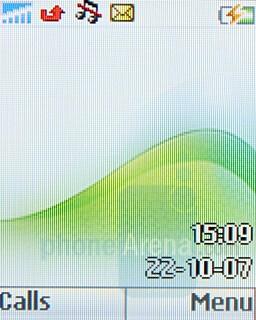Home screen - Sony Ericsson Z250 & Z320 Preview