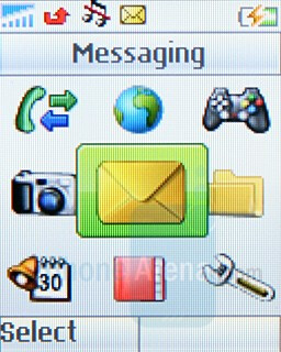 Main menu - Sony Ericsson Z250 & Z320 Preview