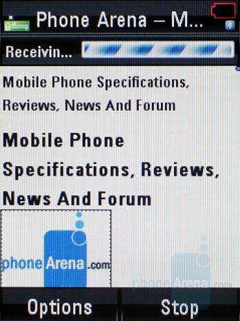 Internet Browser - Motorola RAZR2 V8 Review