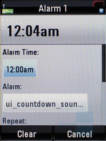 Alarm Clock - Motorola RAZR2 V8 Review