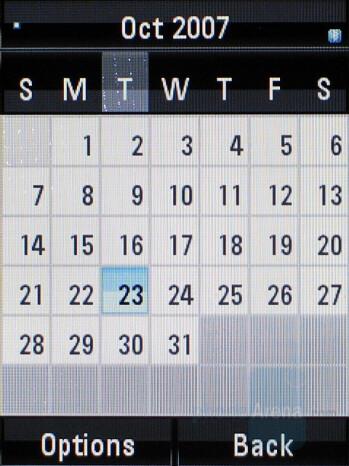 Calendar - Motorola RAZR2 V8 Review