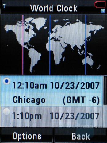 World Clock - Motorola RAZR2 V8 Review