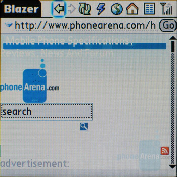 Internet Browser - Palm Centro Review