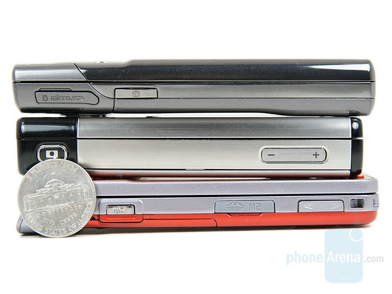 From Left to Right and Bottom to Top - Sony Ericsson W910, Nokia 6500 slide, Samsung G600 - Sony Ericsson W910 Review