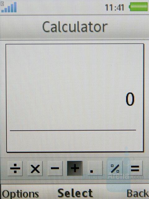 Calculator - Sony Ericsson W910 Review