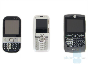 From Left to Right - Palm Centro, LG Rumor, Motorola Q - LG Rumor Review