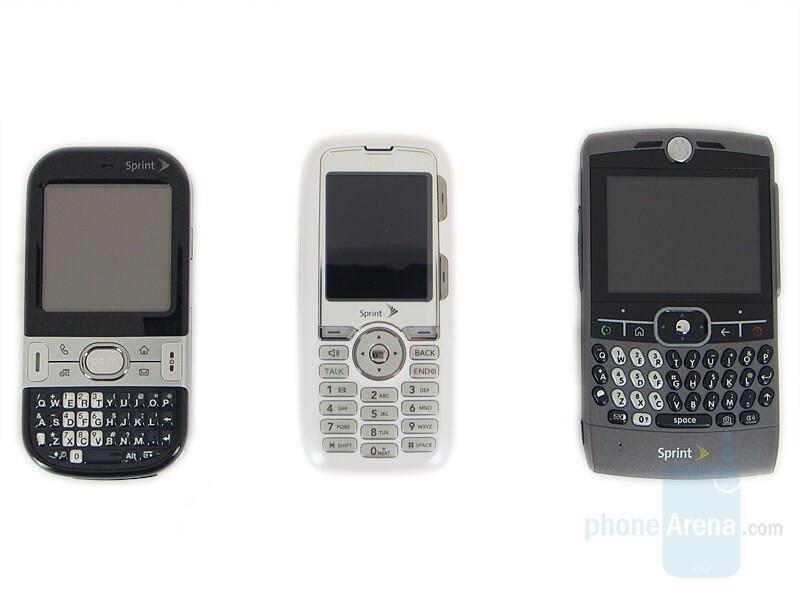 From Left to Right - Palm Centro, LG Rumor, Motorola Q - LG Rumor Review