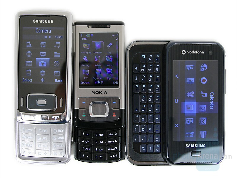 From left to right and botton to top - Samsung G800, Nokia 6500 slide, Samsung F700 - Samsung SGH-G800 Preview