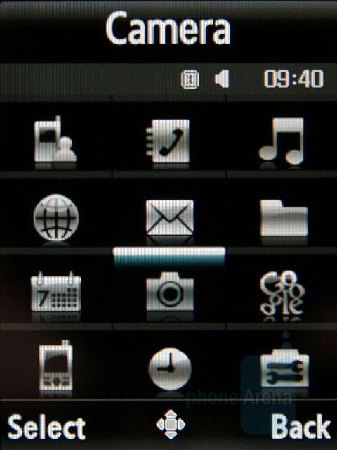 Grid - Main menu - Samsung SGH-G800 Preview