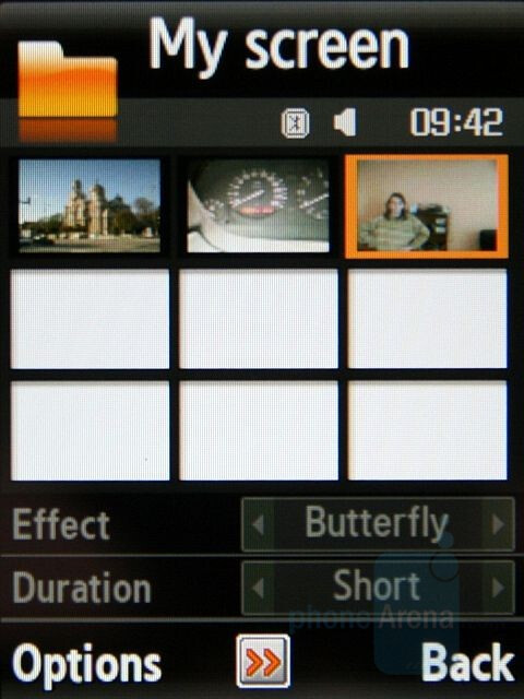 My screen - Samsung SGH-G800 Preview