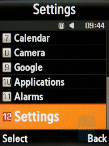 List - Main menu - Samsung SGH-G800 Preview