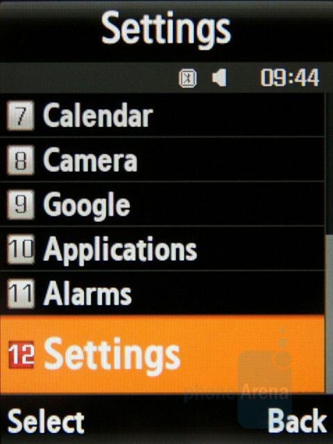 List - Main menu - Samsung SGH-G800 Preview